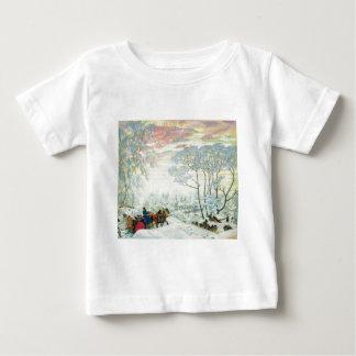 Camiseta Para Bebê _Kustodiev do inverno.