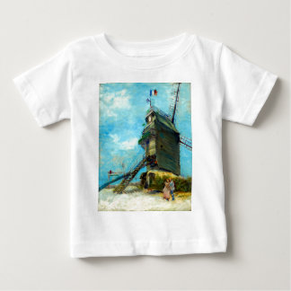 Camiseta Para Bebê La Galette de Vincent van Gogh Le Moulin de