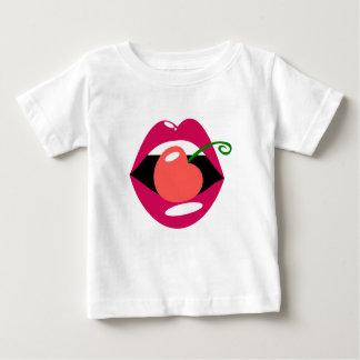 Camiseta Para Bebê Lábios da cereja
