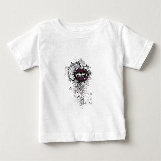 Camiseta Para Bebê lábios de dracula do vintage