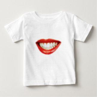 Camiseta Para Bebê Lábios vermelhos
