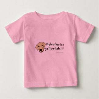 Camiseta Para Bebê laboratório amarelo