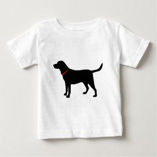 Camiseta Para Bebê laboratório preto, labrador retriever