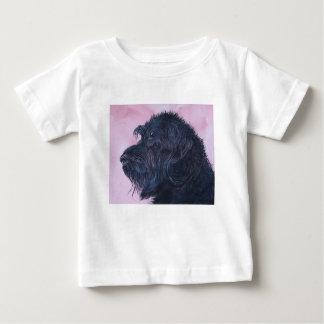 Camiseta Para Bebê Labradoodle preto