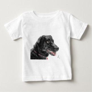 Camiseta Para Bebê Labrador preto