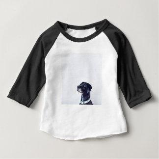 Camiseta Para Bebê Labrador retriever preto customizável