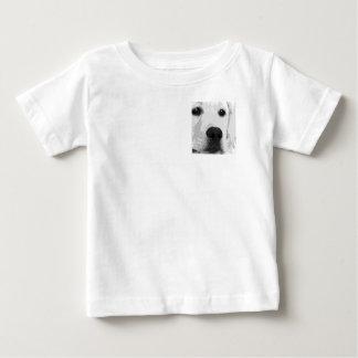Camiseta Para Bebê Labrador retriever preto e branco