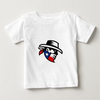 Camiseta Para Bebê Lado do vaqueiro do bandido de Texas retro