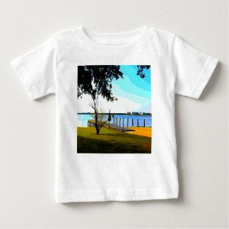 Camiseta Para Bebê Lago Baldwin dock do barco