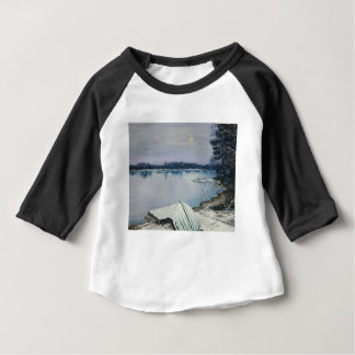 Camiseta Para Bebê Lago forest