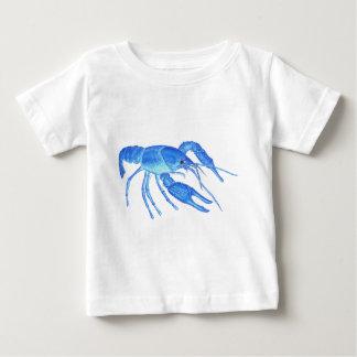 Camiseta Para Bebê Lagostins azuis