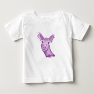 Camiseta Para Bebê Lama fino mindinho