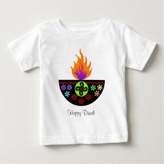 Camiseta Para Bebê Lâmpada colorida Diya de Diwali