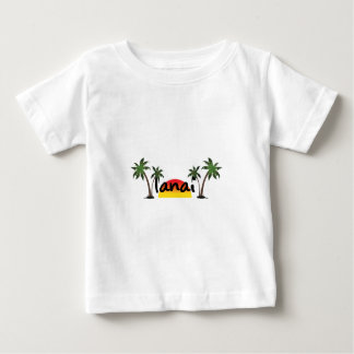 Camiseta Para Bebê Lanai Havaí