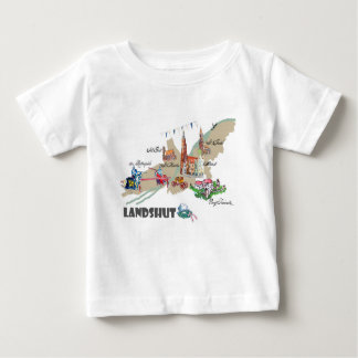 Camiseta Para Bebê Landshut atração turística
