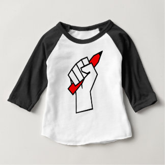 Camiseta Para Bebê Lápis da liberdade de expressão no punho