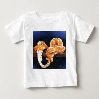 Camiseta Para Bebê Laranja, descascada
