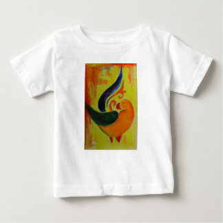 Camiseta Para Bebê laranja tropical