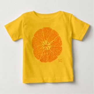 Camiseta Para Bebê Laranja você contente…