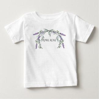Camiseta Para Bebê Lavanda e eucalipto