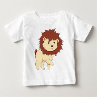 Camiseta Para Bebê Leão feliz do bebê dos desenhos animados