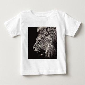Camiseta Para Bebê Leão masculino irritado