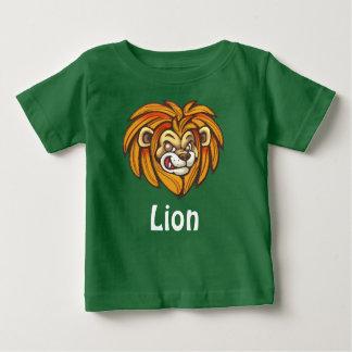Camiseta Para Bebê Leão no t-shirt do jérsei da multa do bebê