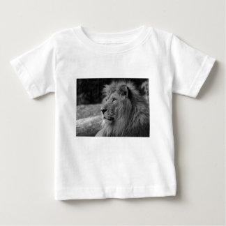 Camiseta Para Bebê Leão preto & branco - animal selvagem