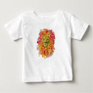 Camiseta Para Bebê Leão psicadélico
