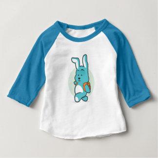Camiseta Para Bebê L'école do à de segunda-feira pequeno Lapin