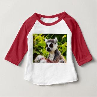 Camiseta Para Bebê lemur de Madagascar em 3/4 de t-shirt do bebê do