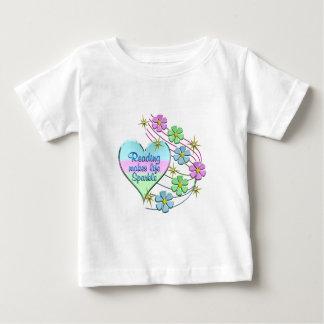 Camiseta Para Bebê Lendo Sparkles