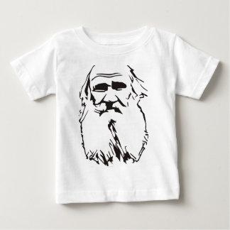 Camiseta Para Bebê Léon Tolstói