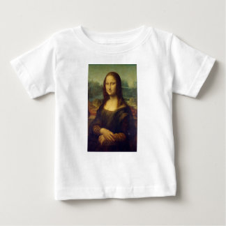 Camiseta Para Bebê Leonardo da Vinci - pintura de Mona Lisa