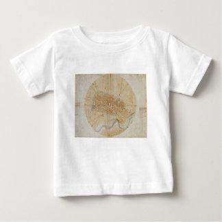 Camiseta Para Bebê Leonardo da Vinci - plano da pintura de Imola