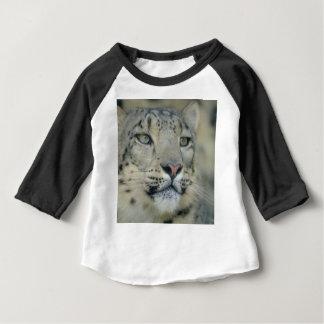 Camiseta Para Bebê leopardo de neve