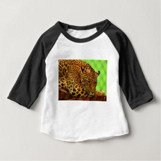 Camiseta Para Bebê Leopardo no registro de Brown