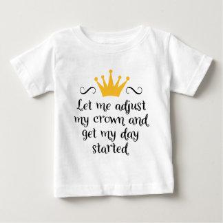 Camiseta Para Bebê Let me adjust my crown