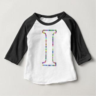 Camiseta Para Bebê Letra da estrela do arco-íris mim