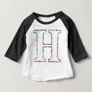 Camiseta Para Bebê Letra H da estrela do arco-íris