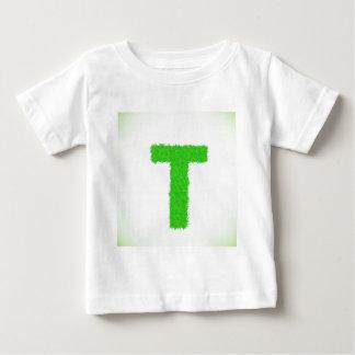 Camiseta Para Bebê letra verde