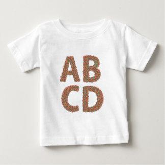 Camiseta Para Bebê letras ajustadas