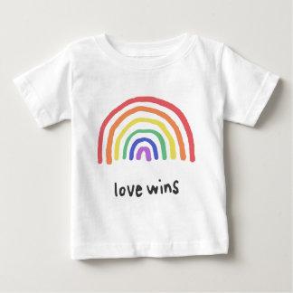 Camiseta Para Bebê LGBTQA+ ORGULHO [vitórias do amor]