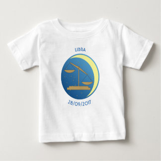 Camiseta Para Bebê Libra do t-shirt do bebê do sinal da estrela