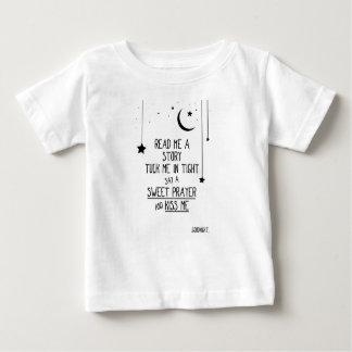 Camiseta Para Bebê Lido me uma história com estrelas e lua