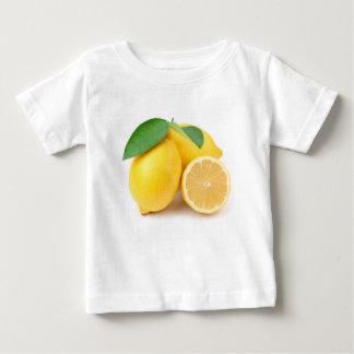Camiseta Para Bebê Limões amarelos brilhantes & frescos