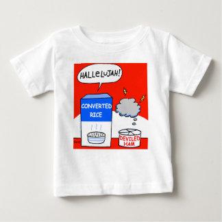 Camiseta Para Bebê Limpe o bebê cristão evangélico engraçado dos