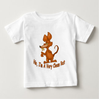 Camiseta Para Bebê Limpe o rato