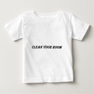 Camiseta Para Bebê limpe sua sala