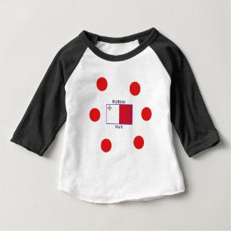 Camiseta Para Bebê Língua (de Malti) e design malteses da bandeira de